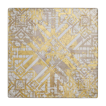 Distressed Placemats S/4 | Champagne & Gold