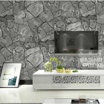 Beibehang 3D simulation of rock stone texture wallpaper the living room TV backdrop waterproof wall paper home decor tapety
