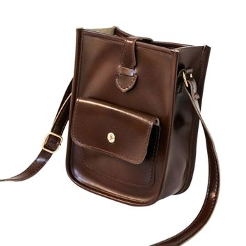 Women's PU Leather Cross Body  Messenger Shoulder Bags.