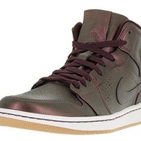 Nike Mens Air Jordan 1 Mid Nouveau Leather Basketball Shoes jordan one