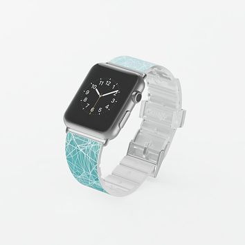 Blue polygons Apple Watch Band (38mm) by VanessaGF | Casetify