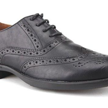 New Men's Ouku Wing Tip Brogue Lace Up Oxford Shoes