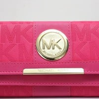 MK 2017 Pure elegant leather printing wallet purse bag [52769030156]