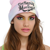I'm Really A Mermaid Rainbow Dye Watchman Beanie