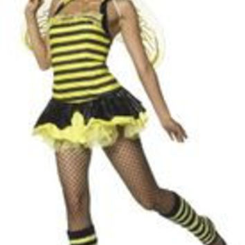 QUEEN BUMBLE BEE SEXY 4 PC S/M