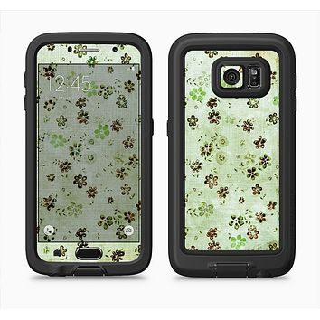 The Vintage Green Tiny Floral Full Body Samsung Galaxy S6 LifeProof Fre Case Skin Kit