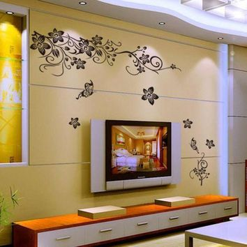 ICIKU7Q Hee Grand Removable Vinyl Wall Sticker Mural Decal Art - Flowers and Vine