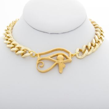 Eye Of Horus Thick Chain Choker