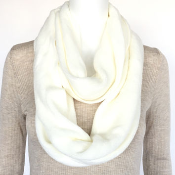 Signature Soft Infinity Scarf In Ivory