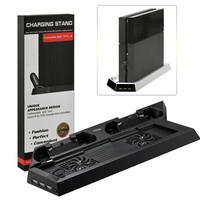 PS4 Mutilfunctional Vertical Cooling Stand Cooler Fan Dual Joystick/Controller/Joypad USB Charger for Playstation 4 PS4