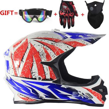 free 3 gifts !Motorcycle Men motocross Off Road Match Helmet Protective Helmets ATV Dirt Bike Downhill MTB DH Capacete