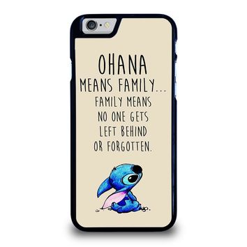 STITCH LILLO OHANA FAMILY QUOTES iPhone 6 / 6S Case Cover