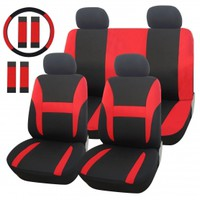 13-Piece Red Universal Fit Car Seat Cover - Adeco - CV0156