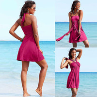 Fashion Designer Vintage Multi Wear 2016 Women Swimwear Summer Beach Dress S.M.L.XL