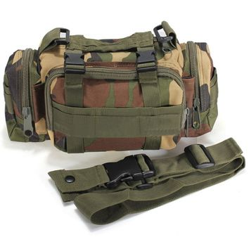 Outdoor Canvas Utility Camouflage Military Tactical Waist Bags Assault Backpack MTB Road Cycling Bicycle Bike Messager bag