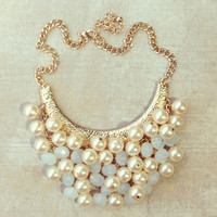Archimedes Pearl Cluster Necklace