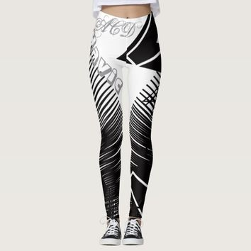 LEGGINGS BLACK WHITE DESIGN HAVIC ACD