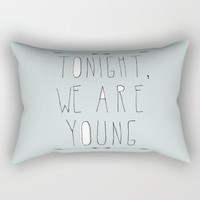 We Are Young (grey & black version) Rectangular Pillow by Sandra Arduini | Society6