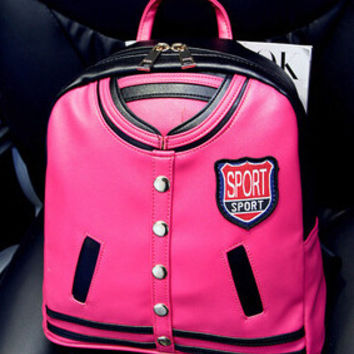 Funny Novelty Baseball Uniform Backpack
