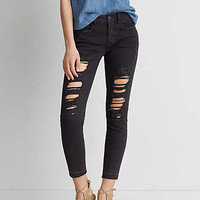 AEO Denim X Jegging Crop, Black In The Dayz