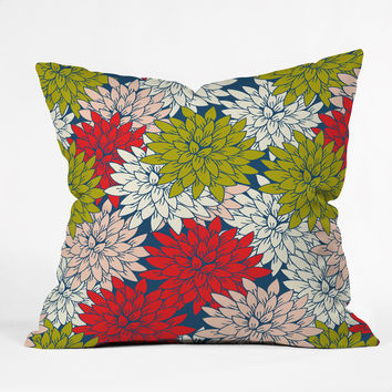 Holli Zollinger winter flora Outdoor Throw Pillow