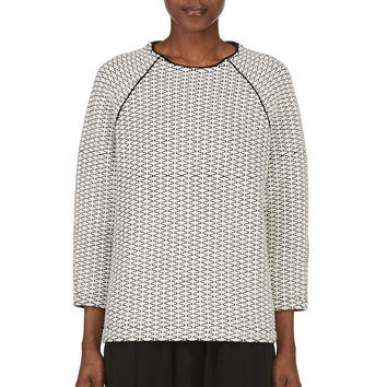 Studio Nicholson Ivory Quilted Wool Neto Sweater
