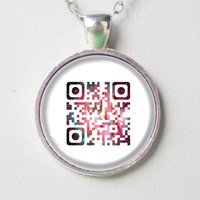 Personalizable Friendship QR Code Necklace - Forever friends -QR codes series