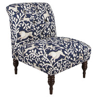 Eloise Slipper Chair, Navy Pantheon, Accent & Occasional Chairs