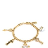 Gold Love Hearts Charm Bracelet by Juicy Couture, O/S