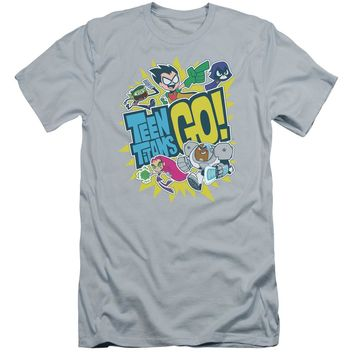 Teen Titans Go - Go Premium Canvas Adult Slim Fit 30/1 Shirt Officially Licensed T-Shirt