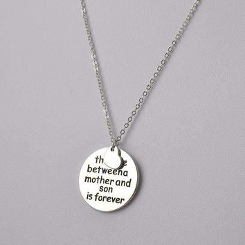 Mother and Son Love Pendant