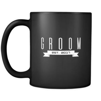 Bachelor Groom To Be Est.2017 Getting Married Black Mug