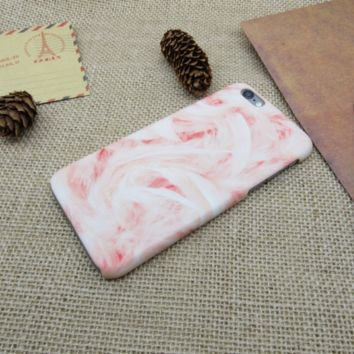 Womens Pink Marble Phone Case Cover for Apple iPhone 7 7 Plus 5S 5 SE 6 6S 6 Plus 6S Plus + Nice gift box! LJ160926-004