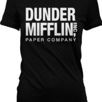Dunder Mifflin Paper Inc Womens T-shirt, Dunder Mifflin Women's T-shirt, Small, Lt Blue