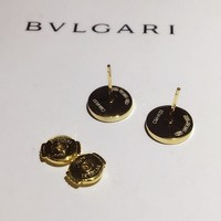 HCXX B003 BVLGAR Roman Disc Stud Earrings