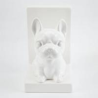 Frenchie Book End White One Size For Women 24898615001