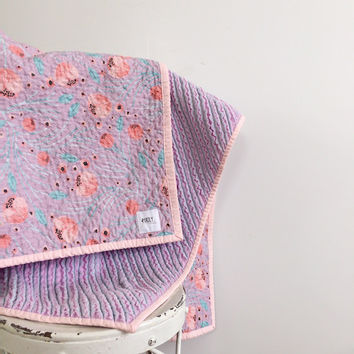 Summer Lilac Chenille Quilt