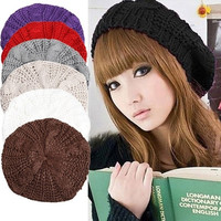 Adorable Women's Twisted Beret Knitted Hat = 1958050308