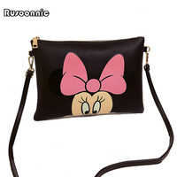 Women Hello Kitty Messenger Bags Minnie Mickey Bag Leather Handbags Clutch Bag Bolsa Feminina mochila Bolsas Female  sac a main