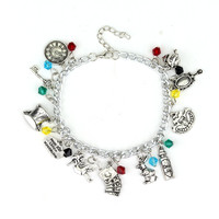 The Charming Alice In Wonderland Charm Bracelet