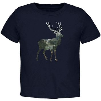 Deer Forest Nature Hiking Hunting Toddler T Shirt
