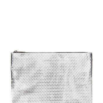Textured Metallic Makeup Pouch