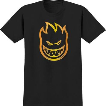 Punk Hipster T-shirt Spitfire  T-Shirt Bighead Black AT_47_3