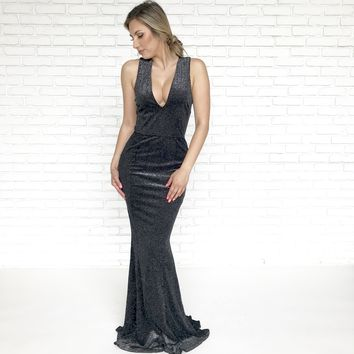 Miss Universe Sparkle Maxi Dress