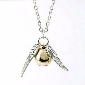 Necklace Popular Drop Fine Jewelry Angel Wing Charm Golden Snitch Pendent