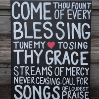 Canvas Painting - Come Thou Fount