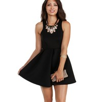 Black Now And Then Skater Dress