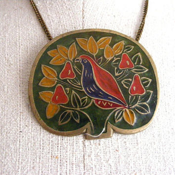 Boho Bird Pendant | 70s Necklace