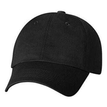 ONETOW Sportsman Six-Panel Chino Polo Twill Cap, Black, Adjustable. 2300