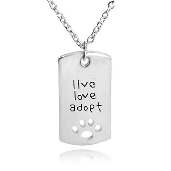 Jewelry Shiny Gift New Arrival Stylish Pets Hollow Out Dogs Pendant Necklace [7279074823]